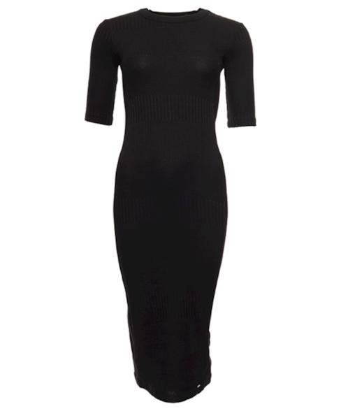 W8010379A | NYC MULTI RIB TSHIRT DRESS