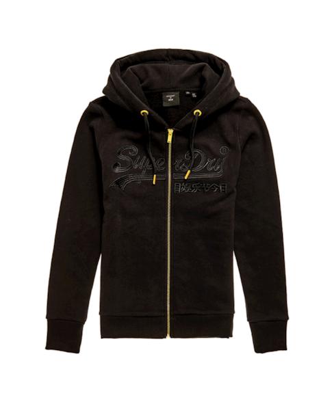 W2010434A | Geborduurde Tonal hoodie met Vintage logo