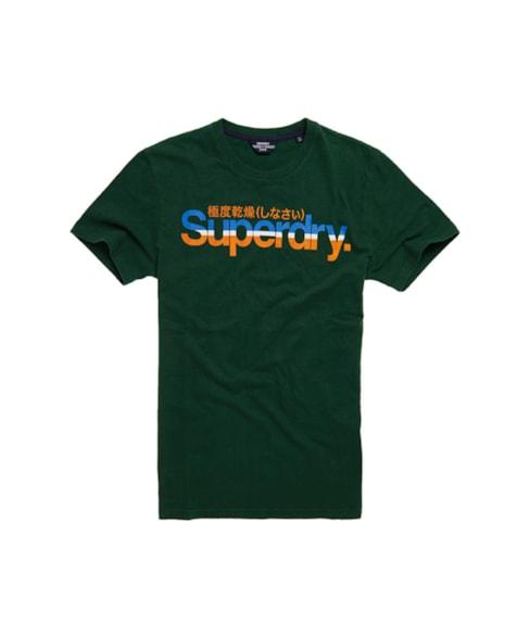 M1010582A | Vintage T-shirt met strepen en Core-logo