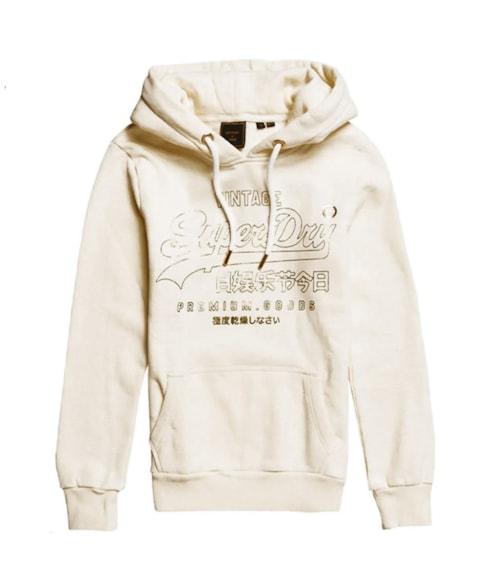 W2010189A | Geborstelde Vintage Logo hoodie met glans