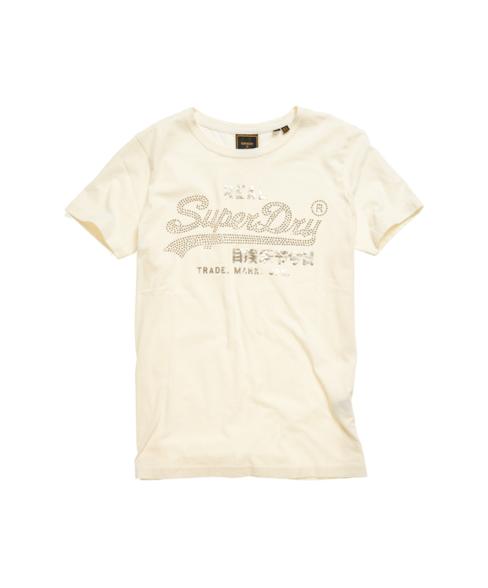 W1010226A | Luster T-shirt met Vintage logo