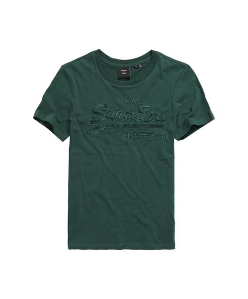 W1010231A | Tonal T-shirt met Vintage logo en borduursel