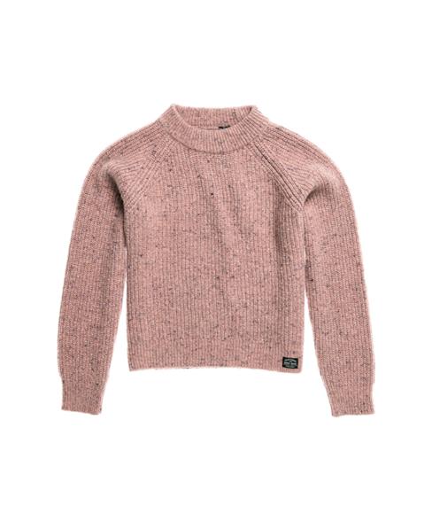 W6110113A | Freya trui van tweed met ronde hals