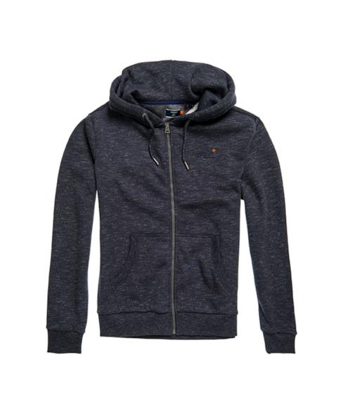 M2010227A   Orange Label klassieke hoodie met rits