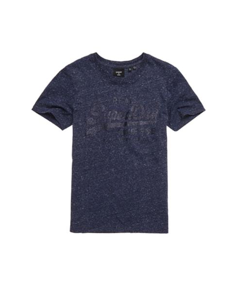 W1010233B | Tonal T-shirt met Vintage logo en glitters