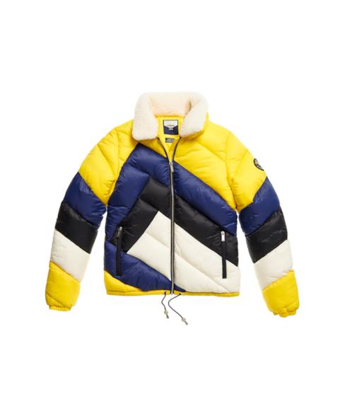 W5010353A | Gewatteerde jas met gesplitst ontwerp