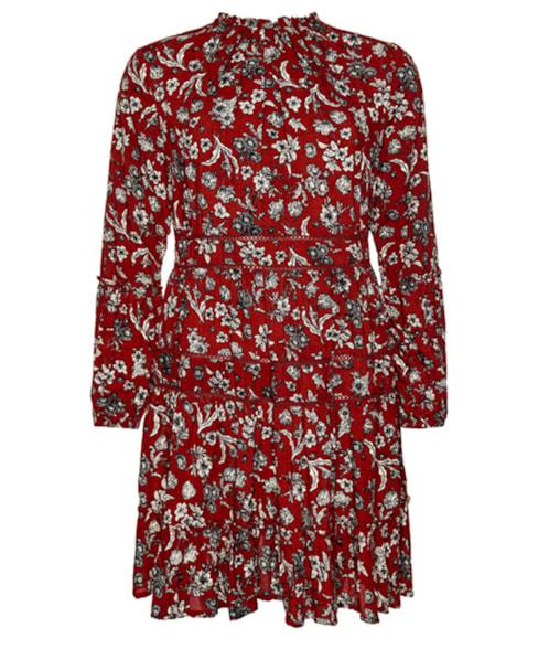 W8010368A | Richelle jurk met lange mouwen