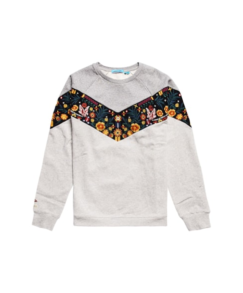 W2010486A | Crafted Folk sweatshirt met raglanmouwen