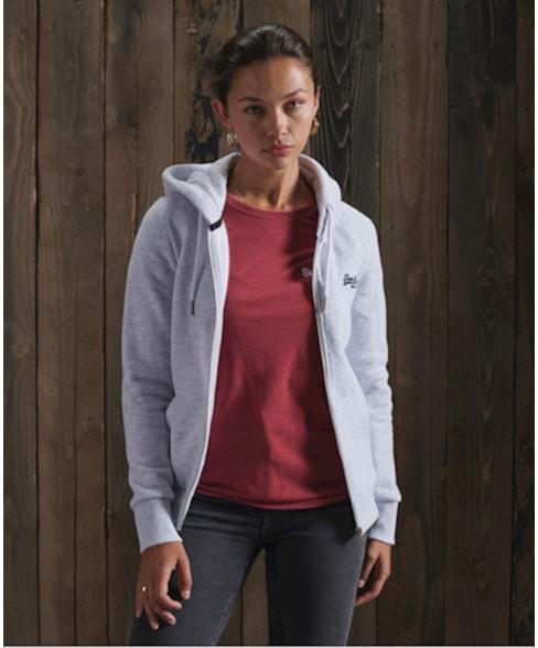 W2010442A | Orange Label hoodie met rits