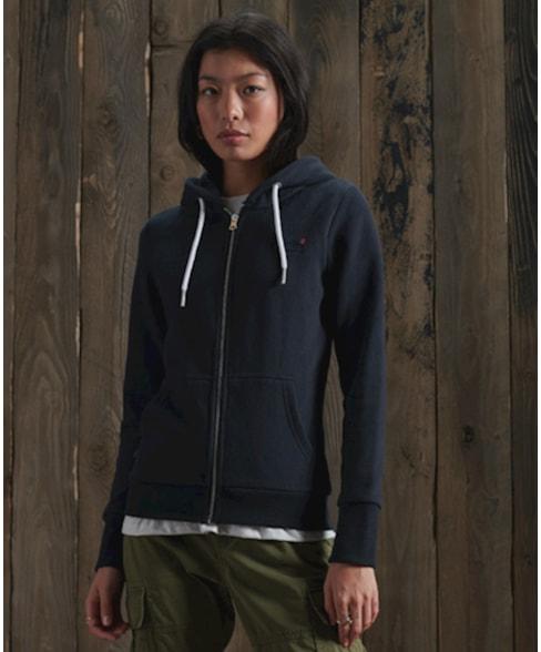 W2010442A   Orange Label hoodie met rits