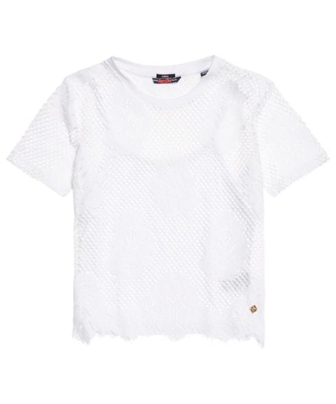 G60137SQ | Superdry Savanna Lace T-Shirt