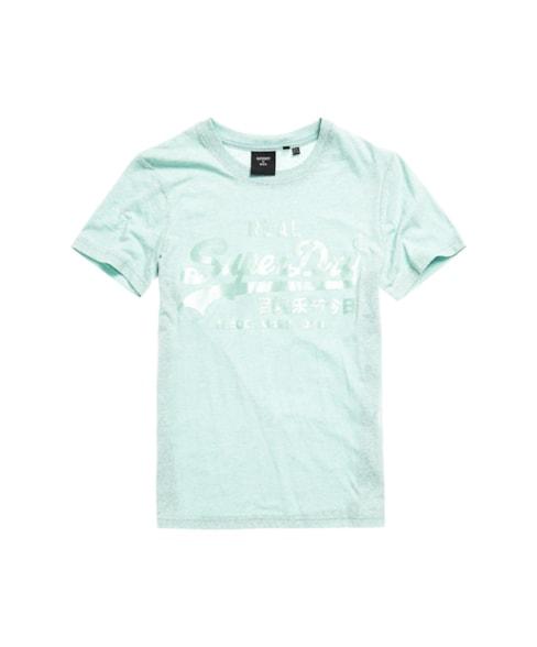 W1010234B | Tonal T-shirt met Vintage logo en satijn