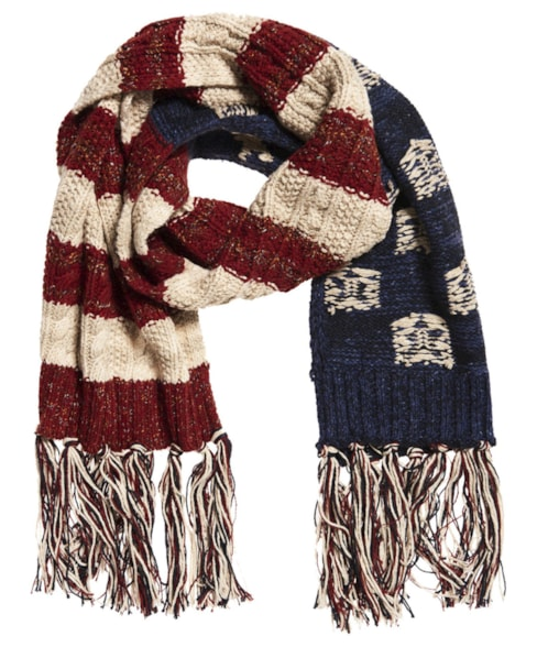 G90003PR   Superdry Americana Cable Knit Scarf