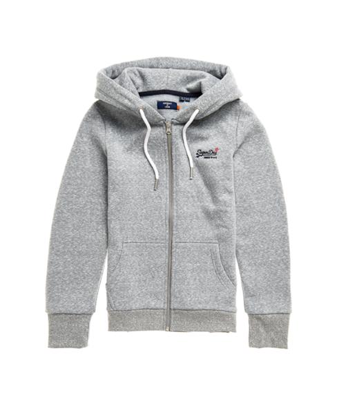 W2010336A | Orange Label hoodie met rits